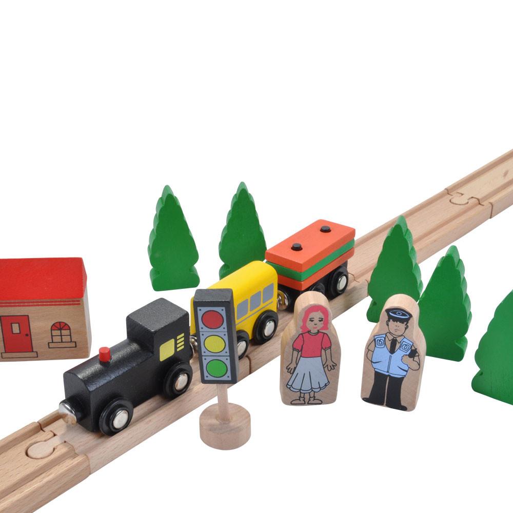 Bomen, verkeerslichten en poppetjes.