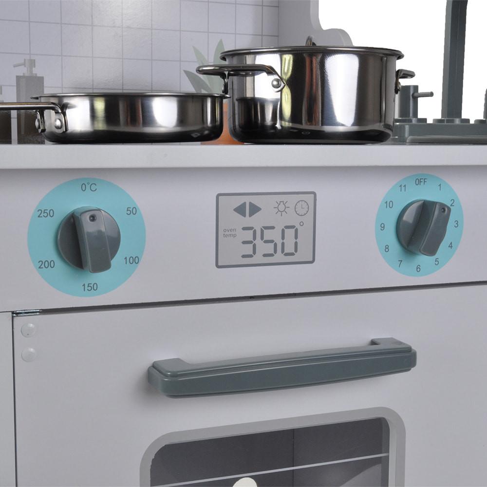 Draaiknoppen boven de oven.