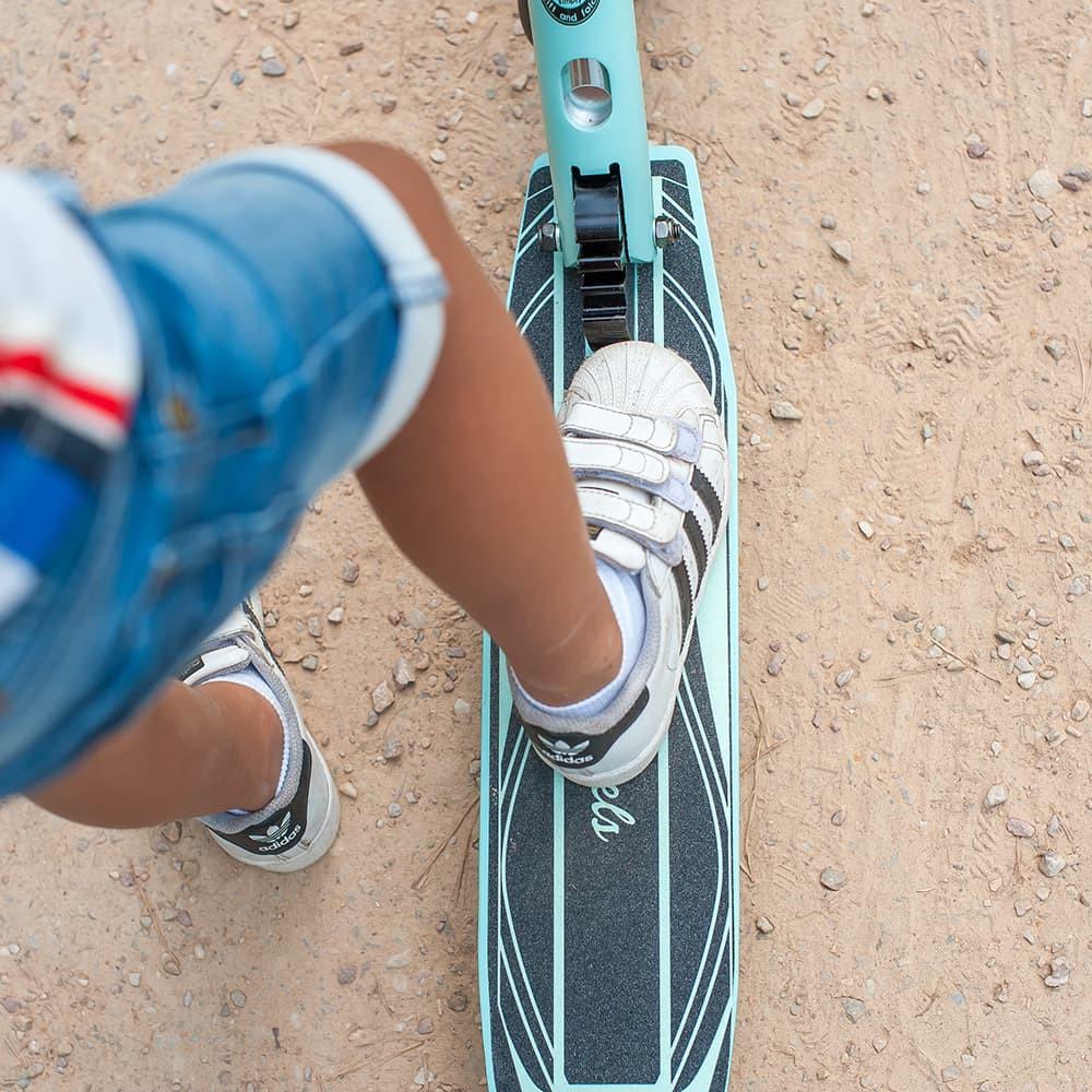 Veilig: anti-slip board.