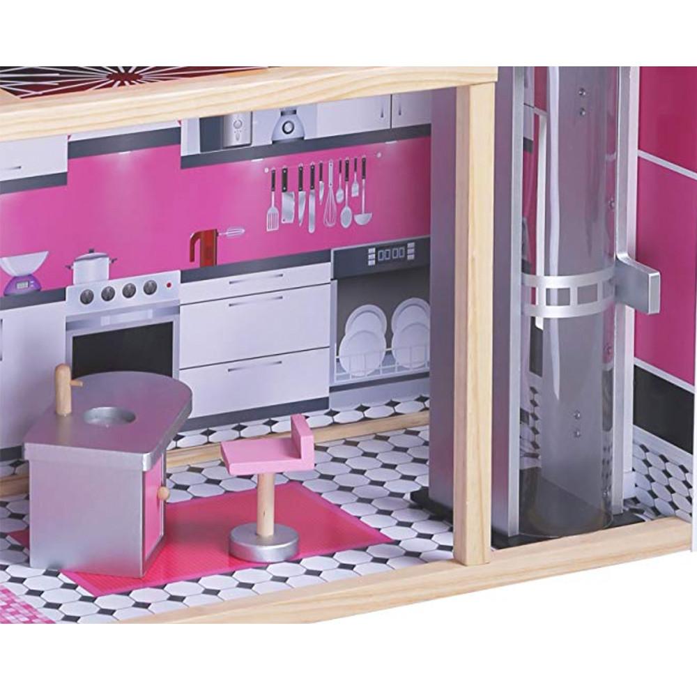Keuken voorzien van alle gemakken.