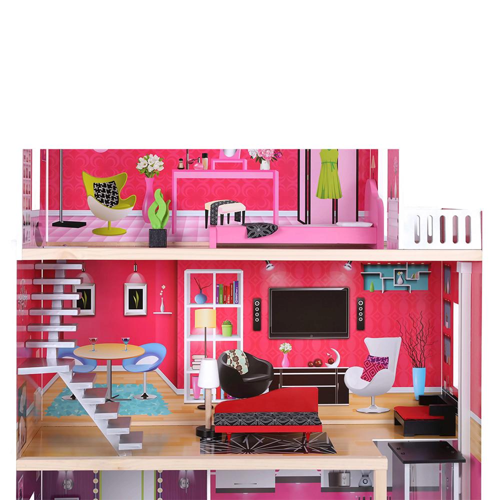 Woonkamer met stijlvolle meubels.