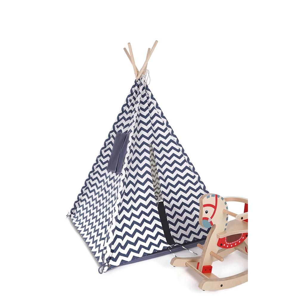 De tent staat goed in iedere kinder- of speelkamer.